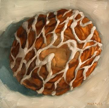 """Cheese Danish"" original fine art by Michael Naples"