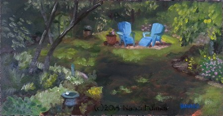 """Christine's Garden"" original fine art by Nanci Fulmek"