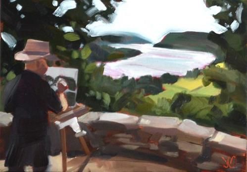 """Plein Air Man"" original fine art by Jessica Green"