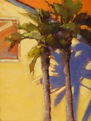 """12th Street Palms"" original fine art by Laurel Daniel"