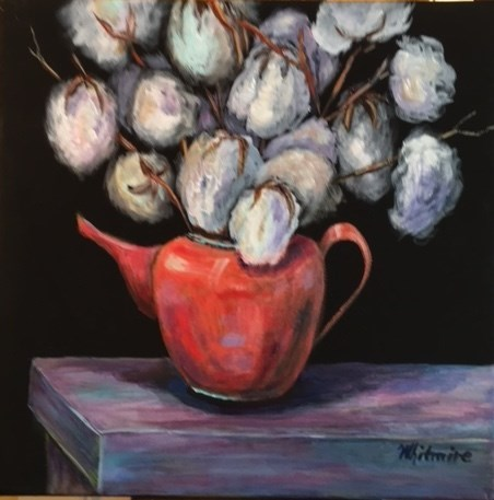"""Cotton #1"" original fine art by Barbara Whitmire"