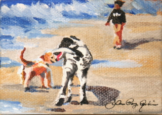 """Frolicking"" original fine art by JoAnne Perez Robinson"