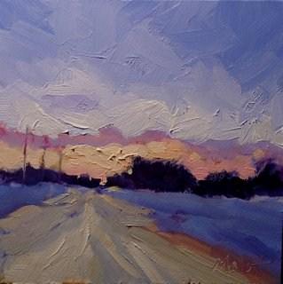 """Sunset Snow Landscape Winter Spring Archive Special"" original fine art by Heidi Malott"