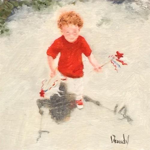 """""""Firecrackers"""" original fine art by Stephanie Drawdy"""