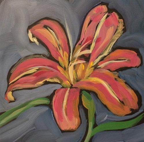 """A Day Lily"" original fine art by Kat Corrigan"
