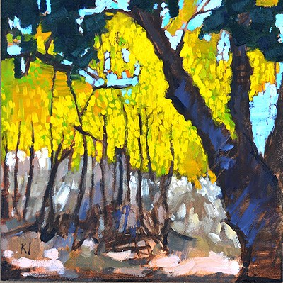 """Autumn Leaves, Temecula"" original fine art by Kevin Inman"