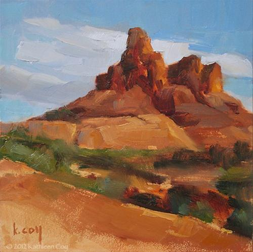 """Red Rocks"" original fine art by Kathleen Coy"