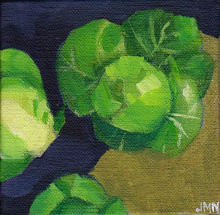 """Sprouts on Brown Paper"" original fine art by J M Needham"