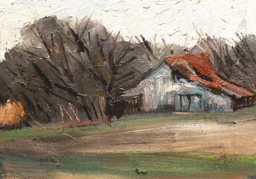 """Landscape,f17"" original fine art by Run-      Zhang Zane"