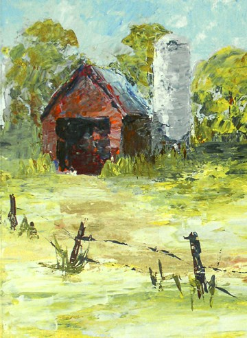 """Overgrown Farm"" original fine art by Anna Vreman"