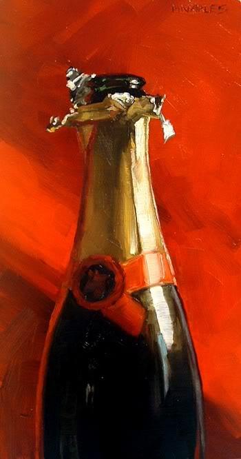 """""""Bubbly"""" original fine art by Michael Naples"""