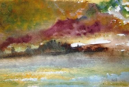 """Sheet Lightning"" original fine art by Nancy Hall"