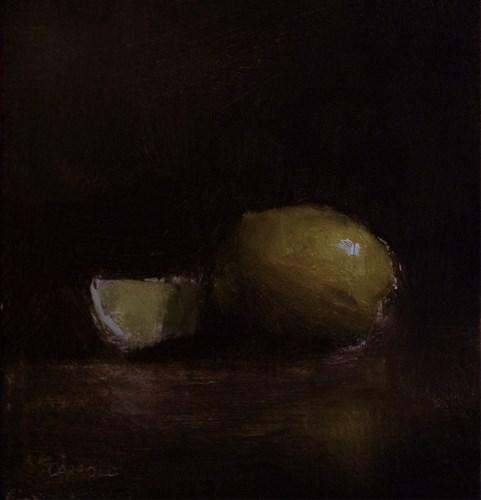 """Lemon with Slice"" original fine art by Neil Carroll"
