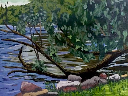 """Sunken Tree"" original fine art by Reisa Peters"