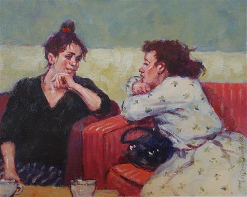 """Telling Secrets"" original fine art by Lorraine Lewitzka"