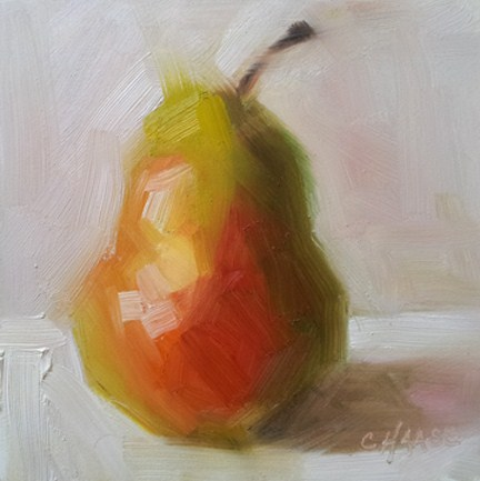 """Natural Pear"" original fine art by Cindy Haase"