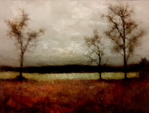 """Lake in Autumn"" original fine art by Bob Kimball"