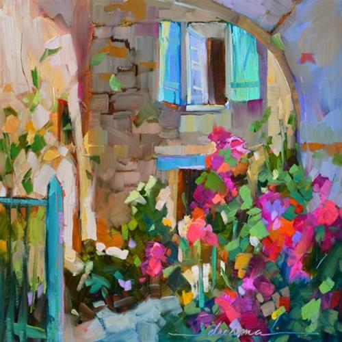 """Step Inside"" original fine art by Dreama Tolle Perry"