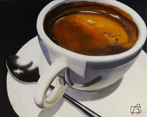 """Café Brazil"" original fine art by Andre Beaulieu"