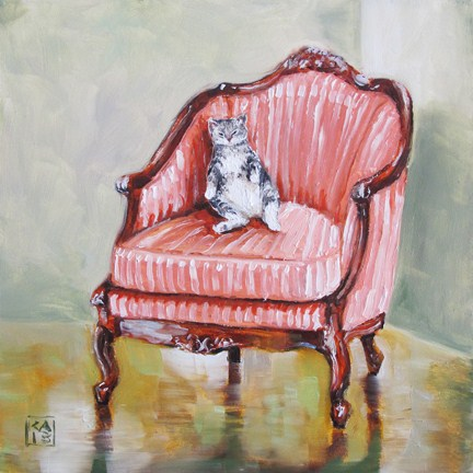 """let them eat tuna"" original fine art by Kimberly Applegate"