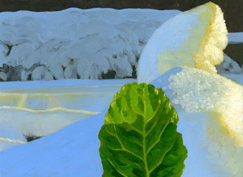 """Chard in the Snow"" original fine art by Nancy Herman"