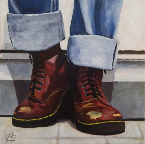 """Doc Martens"" original fine art by Andre Beaulieu"