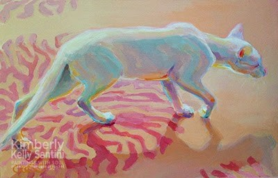 """Panther-ette"" original fine art by Kimberly Santini"
