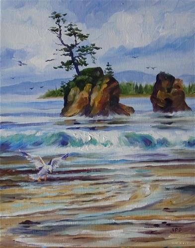 """Oregon Coast"" original fine art by Jean Pierre DeBernay"