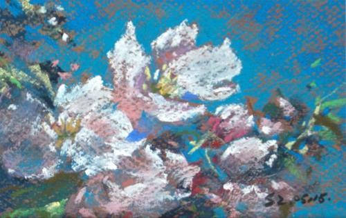 """Spring Flowers"" original fine art by Sabrina Zhou"