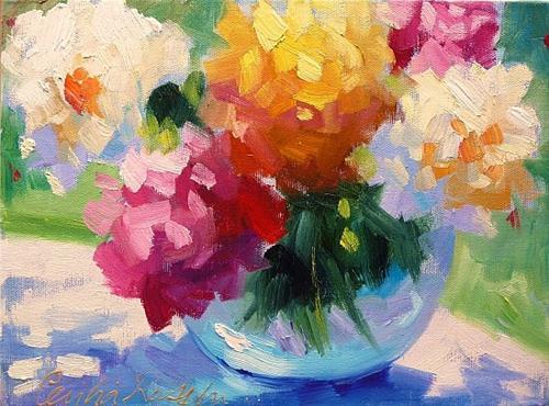 """Flower Study II"" original fine art by Cecilia Rosslee"