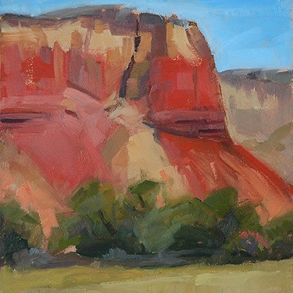 """Ghost Ranch No. 2"" original fine art by Miriam Hill"