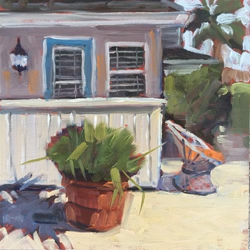 """La Jolla Cottage"" original fine art by Deborah Newman"