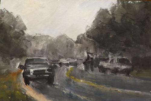 """rain,d15"" original fine art by Run-      Zhang Zane"
