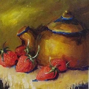 """June Treats"" original fine art by Alice Harpel"