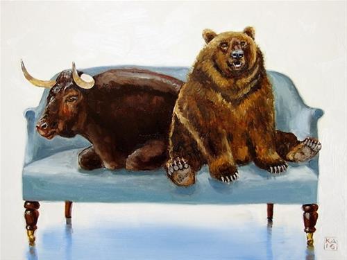 """""""WALL SEAT"""" original fine art by Kimberly Applegate"""