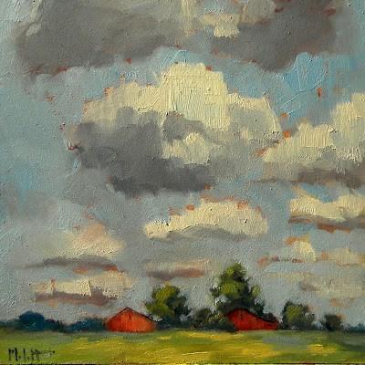 """Midwest Landscape Red Barns Rural Impressions Original Art"" original fine art by Heidi Malott"