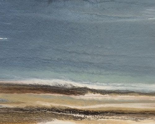 """Contemporary Abstract Seascape ,Beach Art Painting Day at the Gulf-Duchess-Study #2 by Colorado Co"" original fine art by Kimberly Conrad"