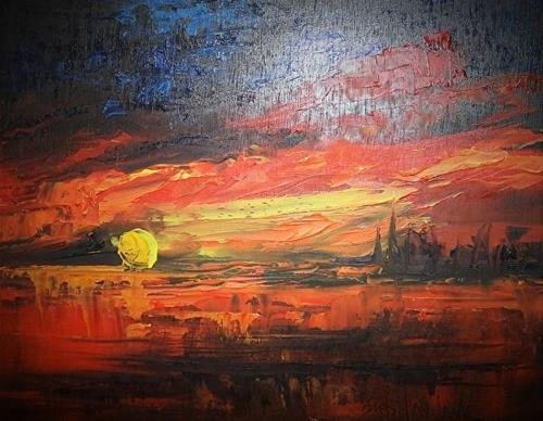 """Sunset III"" original fine art by Barbara Haviland"