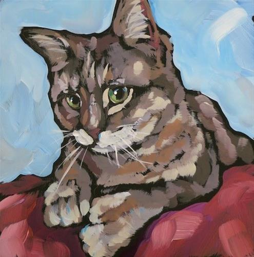 """March 21, Gato!"" original fine art by Kat Corrigan"