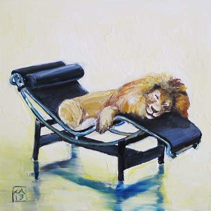 """lazy boy"" original fine art by Kimberly Applegate"