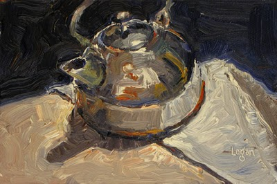 """Tea Kettle"" original fine art by Raymond Logan"
