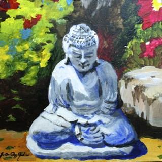 """Garden Guru"" original fine art by JoAnne Perez Robinson"