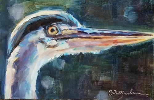 """Day 9 of 30 — Hold Your Head Up"" original fine art by Carol DeMumbrum"