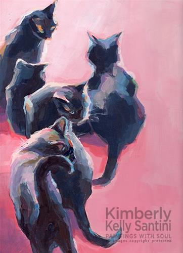 """Forty Five Lives"" original fine art by Kimberly Santini"