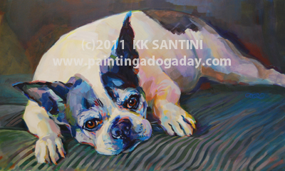 """Maggie"" original fine art by Kimberly Santini"