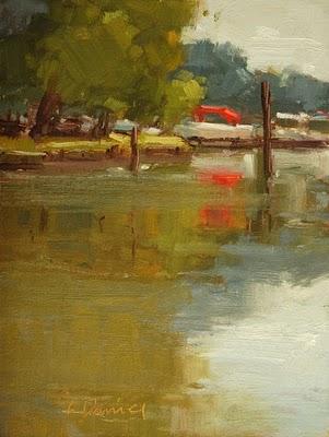 """Marina Reflections"" original fine art by Laurel Daniel"