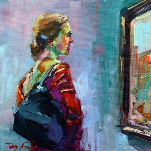 """""""In Puschkin Museum 2"""" original fine art by Jurij Frey"""