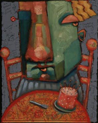 """Breakfast Cake"" original fine art by Brenda York"