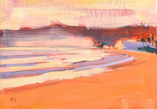 """Sunset, Coronado"" original fine art by Kevin Inman"