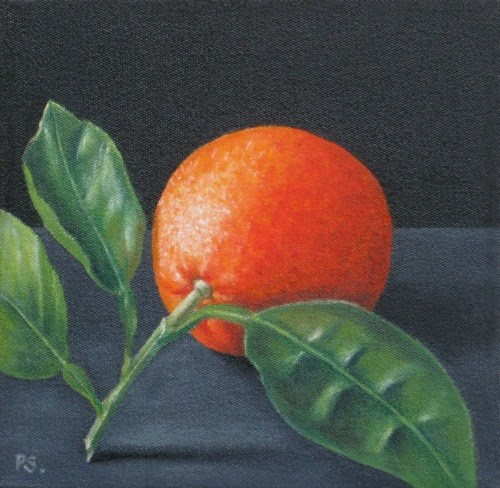 """Orange I"" original fine art by Pera Schillings"